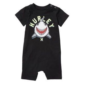 Hurley 'Fish Are Friends' Crew Baby Onsie Bodysuit